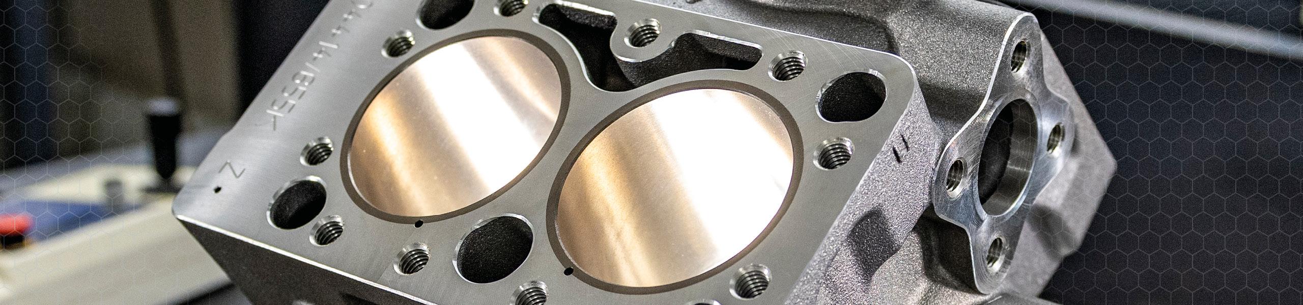 Baugruppenfertigung bei Zeh Präzisionsteile Illertissen - Kurbelgehäuse mit Zylinderbank eines Kompressors