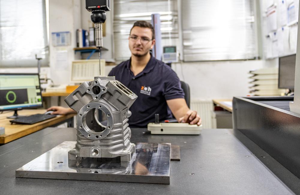 Präzise Vermessung eines Kompressorbauteils aus der Fertigung in der Zeh Qualitätssicherung